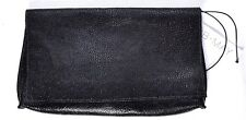 "B.MAY Women's Foldover Clutch Embossed Stingray Caviar 11"" x 6.25"" B May >NEW<"
