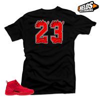 Shirt to Match Jordan 12 Bulls-23 Black Tee