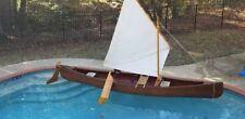 1985 Wood Strip Currahee Boatworks Sail Canoe 16'