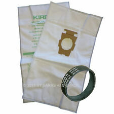 2 Genuine Kirby Micron Magic Cloth Vacuum Cleaner Bags F Style Plus Belt
