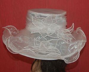 Brauthüte Hut Anlasshut Derbry Pferederenne Kentucky Kopfputz Brautschmuck weis