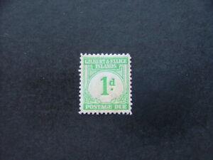 Gilbert & Ellice 1940 1d emerald-green Postage Due SGD1 VLMM