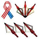12PK Broadheads Arrow Point Tips Arrowheads Bow Hunting Archery 100Grain 3Blades