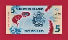 BEAUTIFUL SOLOMON ISLANDS UNC POLYMER BANKNOTE: Five 5 Dollars 2019 - (Pick-38a)