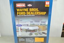 HO building structure KIT Walthers Wayne Bros Ford Dealership Showroom
