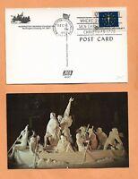 WASHINGTON CROSSING FOUNDATION PA  DEC 25,1976 BI CENTENNIAL POSTCARD