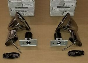 Nissan OEM Fender Side Mirrors Chrome Bullet Style for Datsun 510 SSS Pair