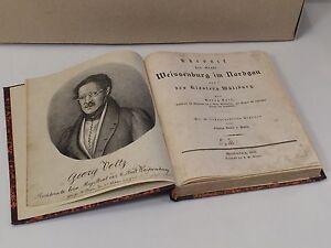 WEIßENBURG IM NORDGAU & WÜLZBURG ILLUSTRIERTE ORIGINAL VOLTZ CHRONIK VON 1835