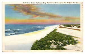 1943 Gulf Coast Scenic Highway near Fort Walton, FL Postcard *5N(3)1
