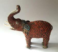 Antique Tibetan Coral Elephant