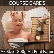 Course Cards Loyalty - for massage beauty salon facial A8 mini size  Pack of 25