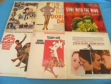 6 x Soundtrack : Gone With The Wind / Dr. Zhivago / Bugsy Malone / Funny Girl ++