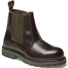 DICKIES STEEL TOE CAP SAFETY DEALER BOOTS BROWN UK 6 EU 40 FD22200 LEATHER