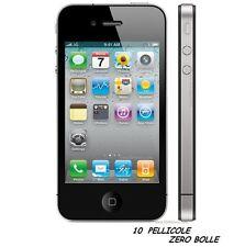 10 Pellicola OPACA per Apple IPHONE 4G 4S Protettiva Pellicole MATT ANTIMPRONTA