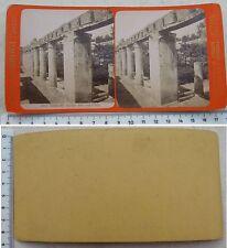 Ercolano Giardino della Casa di Argo -Stereophoto edizioni G. Brogi - fine '800