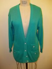 Vintage GUCCI Aqua Button Front Cardigan Sweater 38