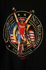 "Mario Cipollini Cannondale Saeco t-shirt ""Citizenship Not Required"" Made in USA"