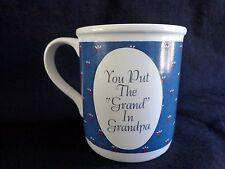 House of Lloyd Mug You Put the Grand in Grandpa Blue Vintage 1987 Coffee Cup