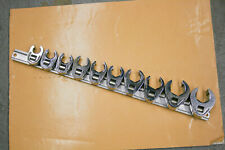 Snap On 10 Piece 11 22mm Drive 6 Pt Flare Nut Crowfoot Set