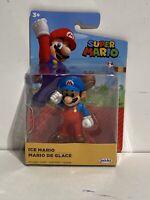 "2020 World of Nintendo Ice Mario 2.5"" Super Mario Figure Jakks Pacific Wave M1"