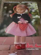 KATHE KRUSE DOLL CALENDAR FROM 2006 CLUB EDITION-USED-PICTURES UNMARKED-GERMANY