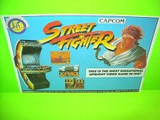 Capcom STREET FIGHTER Original NOS 1987 Video Arcade Game Flyer Electrocoin Rare