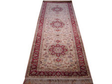 10 ft Genuine Hand-knotted Traditional Luxurious Plush Silk 2' 6'' x 10' Rug