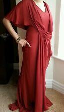 Schöne Amanda Wakeley rot Seidenkleid. UK 8/40. £ 1070. Hochzeit. Ball. Prom.