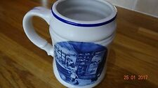 """LOVELY VINTAGE TER STEEGE B. V. DELFT BLAUW HANDCRAFTED IN HOLLANG TANKARD 6"""""""