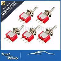 1/5/10 Pcs 3 Pin Mini Miniature SPDT  Toggle Switch Car Boat Dashboard 6A 125VAC