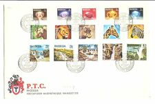 RHODESIA 1978 WILD LIFE - FDC 15 STAMPS F/VF