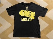 *NEW w/Tag* NIRVANA T-Shirt Smiley Authentic Mens XL (Primark brand)