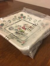 New listing Santa Plate With Scooter By Cosmos Gifts Corporation - Item 10659 - New In Box