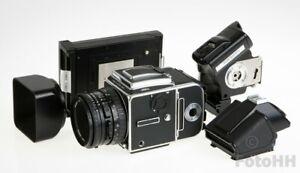 """COMPLETE HASSELBLAD """"KIT"""" 503 CW + 80mm + A12 + WINDER + PRISM FINDER + POLABACK"""