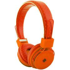 NEW POLAROID FOLDABLE EAR HEADPHONES PHP8450 NEON ORANGE MICROPHONE MIC BASS NIB