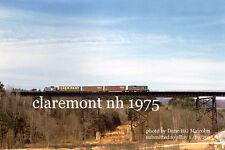 "Boston & Maine RR  1747  Claremont NH 1975 4x6"" photo"