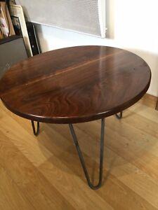 Solid American Black Walnut Coffee Table Hairpin Legs
