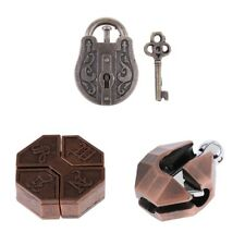 Chinese Intelligence Lock Brain Teaser IQ Test Toys for Kids & Adults Puzzle