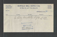 1905 BUFFALO MILL SUPPLY CO BUFFALO NY BILLHEAD