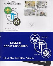 LINKED ANNIVERSARIES FDC 1977 AND PRESENTAION PACK