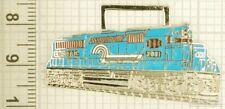 Sturdy key chain with a silver-plated & enamel Conrail diesel locomotive shield