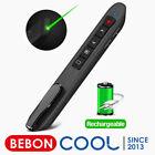 Wireless Presenter Remote Control Rechargeable Presentation Clicker Green Light