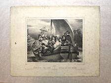 Lithographie vers 1830, Juin, Achille Devéria