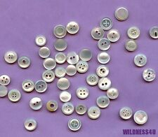 32 Vintage Buttons Sequins MOP MOTHER of Pearl Mix Beads Spacers Cabochon lot