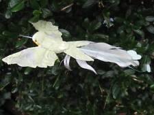 Artificiale Verde Oliva PIUMA Carta Uccello con rivestimento in pizzo