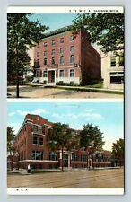 Saginaw MI, YWCA, YMCA, Vintage Michigan Postcard