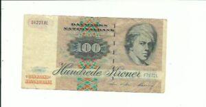 🇩🇰 Denmark 100 Kroner P-54i  1972 (1998) banknote FREE USA SHIPPING!