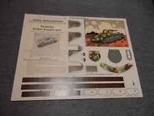Leichter Kampfwagen TANK  SHOLZ  PAPER MODEL  original complete near mint
