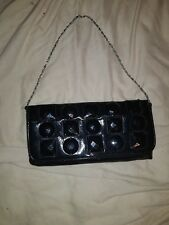 Ladies Small Black Party Clutch Bag with Shoulder Strap