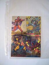 MARVEL METAL UNCUTSHEET DE 4 CARDS  1995